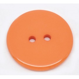 Bouton en résine orange 23 mm