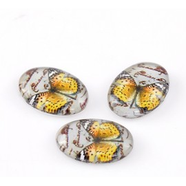 DESTOCKAGE - Cabochon papillon 18 x 13 mm
