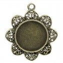 Pendentif support Cabochon 20 mm