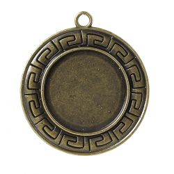 Pendentif support cabochon 25 mm