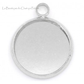 DESTOCKAGE - Pendentif support cabochon 13 mm