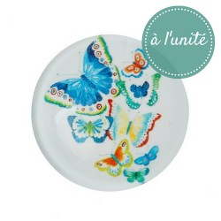 DESTOCKAGE - Cabochon en verre papillon 20 mm