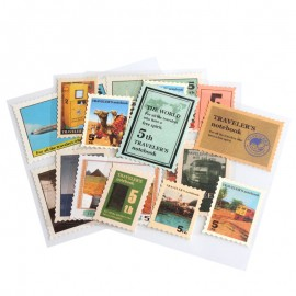 18 stickers timbres voyages