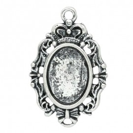 Pendentif support cabochon 10 x 14 mm