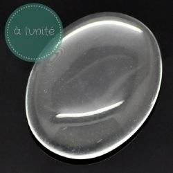 (X1) Cabochon en verre transparent 30 mm x 40 mm