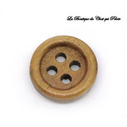 DESTOCKAGE - (X1) Bouton en bois 15 mm