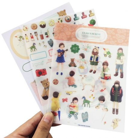 Set de 9 planches de stickers