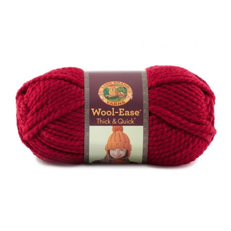 Pelote de laine (170 grammes !) Woolease Thick and Quick col. 138 de Lion Brand Yarns