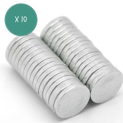 Lot de 10 aimants néodyme 10 mm