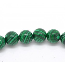 10 Perles malachite 8 mm