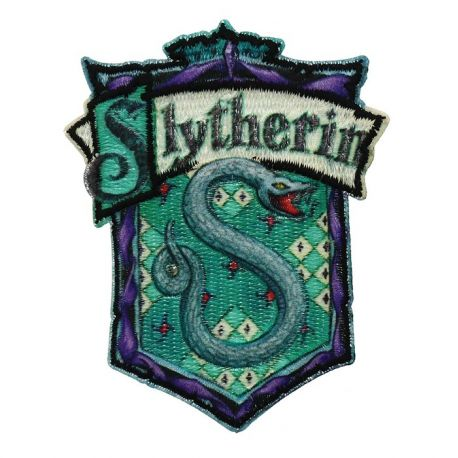 Ecusson brodé thermocollant Slytherin/Serpentard