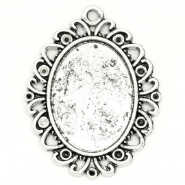 EPUISE - (X1) Pendentif support cabochon 25 x 18 mm