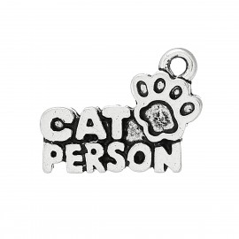Pendentif breloque Cat Person