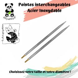 Pointes d'aiguilles interchangeables en acier inoxydableHiyaHiya