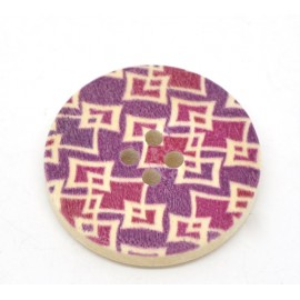 DESTOCKAGE - Bouton en bois fuschia 30 mm